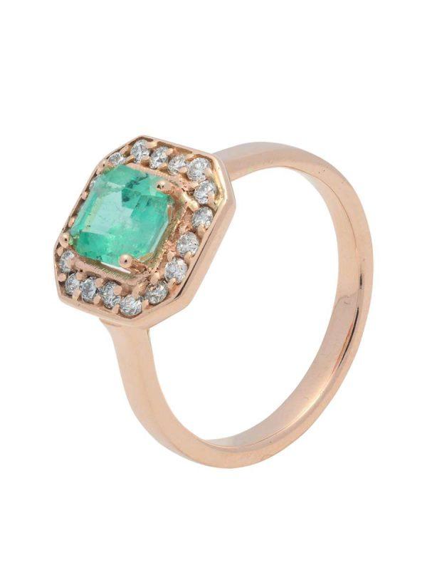 anillo esmeralda lady di plano Mercurio Joyeria