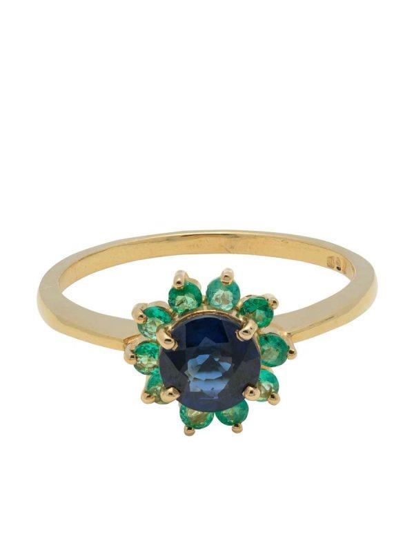anillo esmeraldas ladydi zafiro Mercurio Joyeria